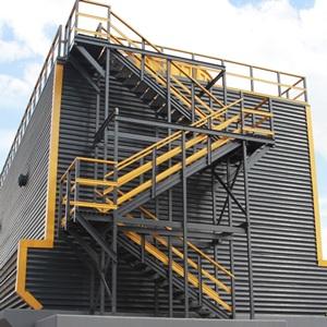 Маршевая лестница из стеклопластика
